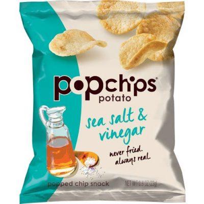 Popchips, Sea Salt & Vinegar, 0.8oz