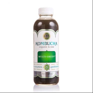 GT's Kombucha, Multi Green, 14 Oz