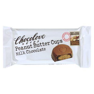 Chocolove, Peanut Butter Cups (Milk Chocolate), 3.1oz
