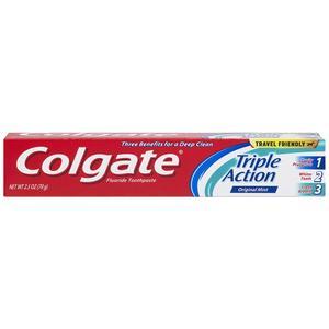 Colgate, Triple Action, 2.5oz