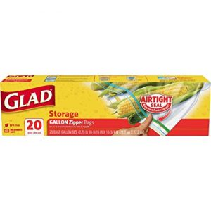 Glad gallon zipper bag, 20ct